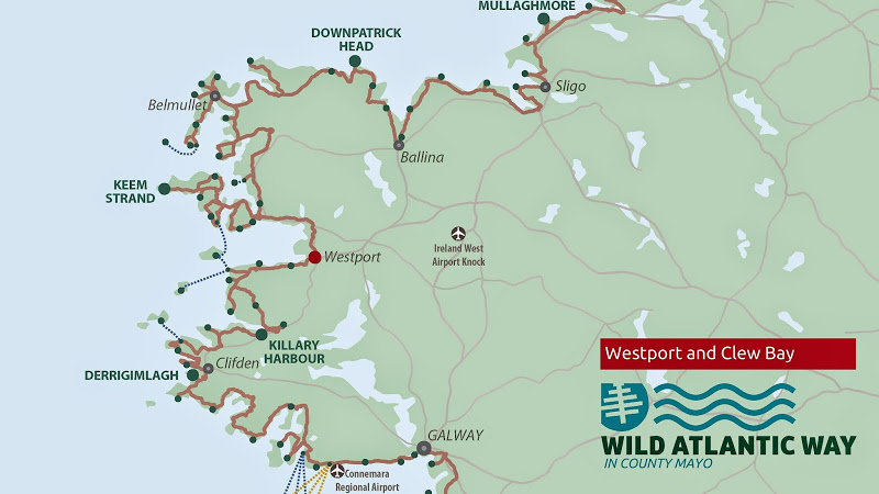 Galway Bay Ireland Map.Clew Bay On The Wild Atlantic Way In Co Mayo Mayo Ireland Ie